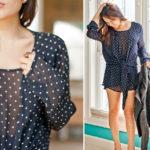 Thrift Epiphany: Polka Dots & Leather