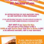 October's Fan Appreciation Giveaway!